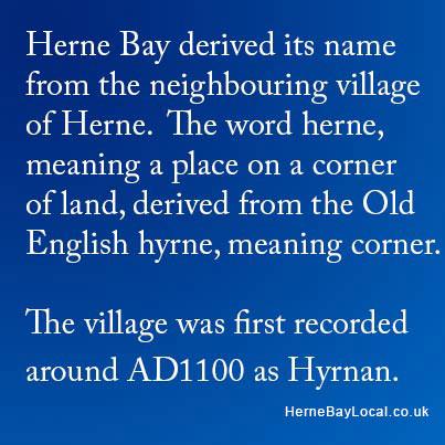 How Herne Bay got its name
