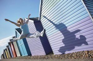 Dancing by Beach Huts Herne Bay